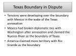 texas boundary in dispute