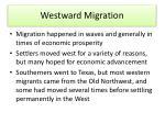 westward migration