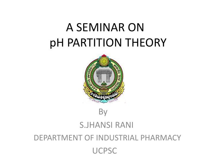a seminar on ph partition theory n.