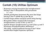 contoh 10 utilitas optimum