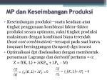 mp dan keseimbangan produksi2