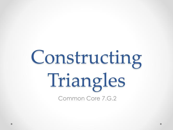 constructing triangles n.