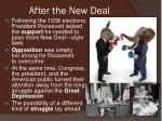 after the new deal