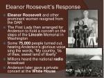 eleanor roosevelt s response
