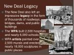 new deal legacy