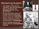 weakening support1