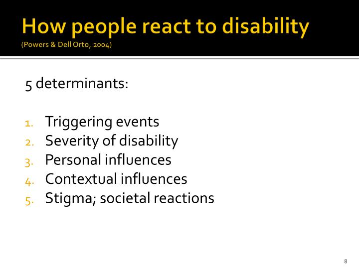 How people react to disability