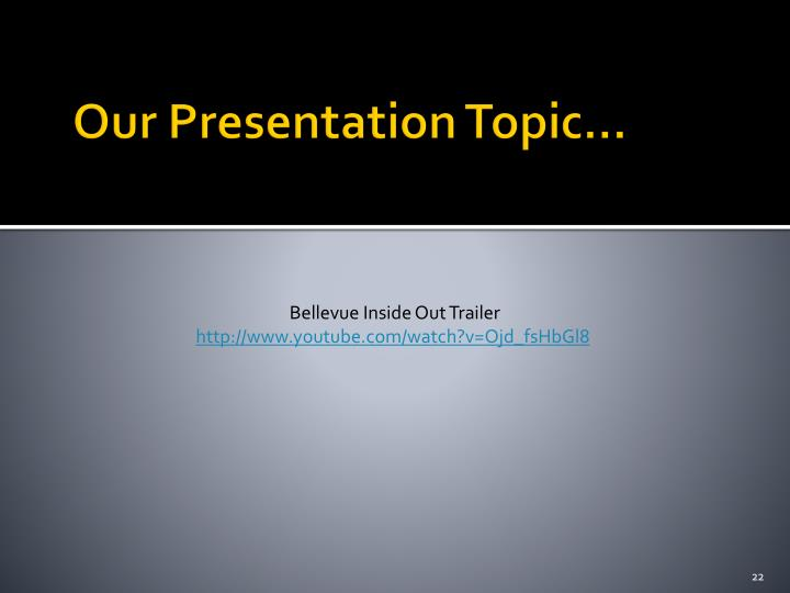 Our Presentation Topic…