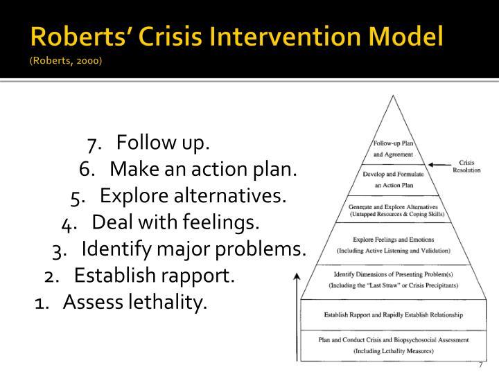 Roberts' Crisis Intervention Model