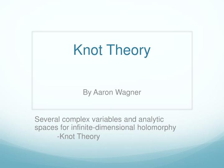 knot theory n.