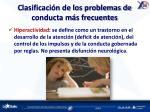 clasificaci n de los problemas de conducta m s frecuentes