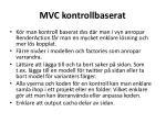 mvc kontrollbaserat1