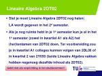 lineaire algebra 2dt02