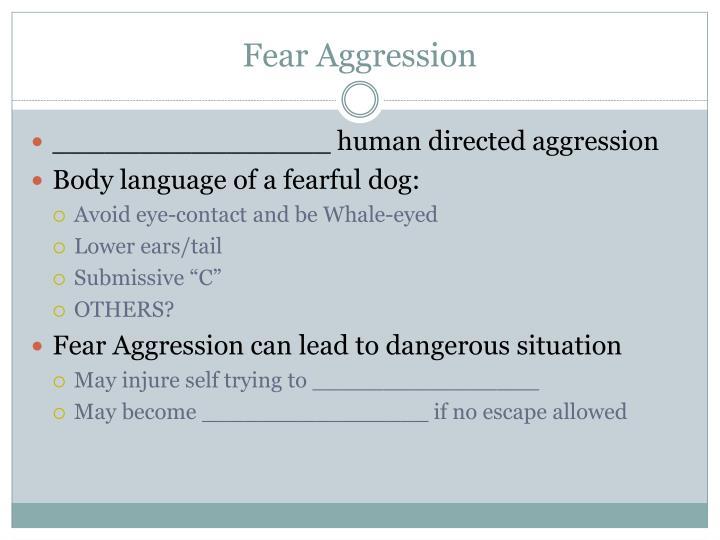 Fear Aggression