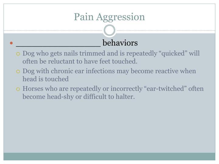 Pain Aggression