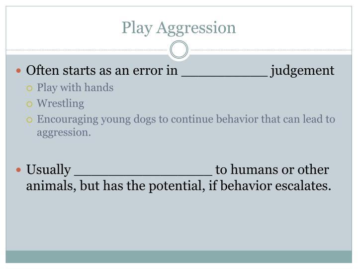 Play Aggression