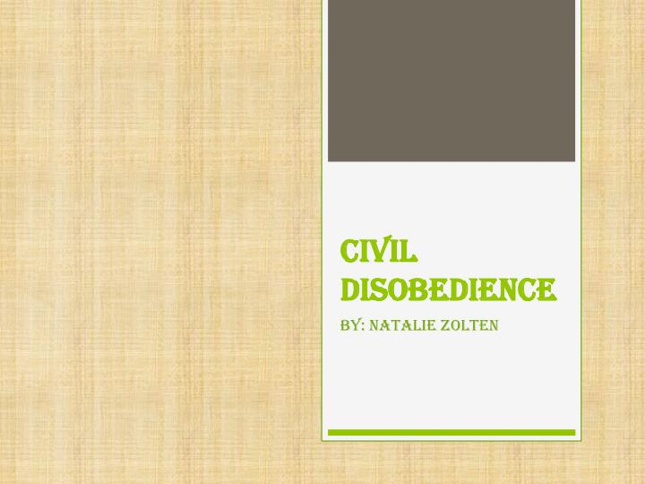 civil disobedience n.