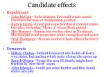 candidate effects