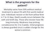 what is the prognosis for the patient