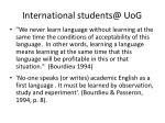 international students@ uog