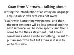 xuan from vietnam talking about