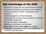 key knowledge of the aos