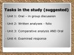 tasks in the study suggested