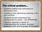 the critical problem