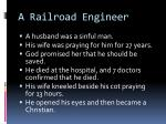a railroad engineer