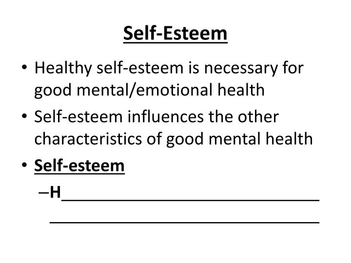 characteristics of mental and emotional health