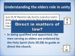 understanding the elders role in unity