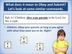 what does it mean to obey and submit let s look at some similar commands