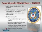 coast guard s sems effort anprm