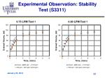 experimental observation stability test s33111