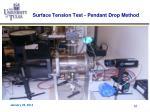 surface tension test pendant drop method