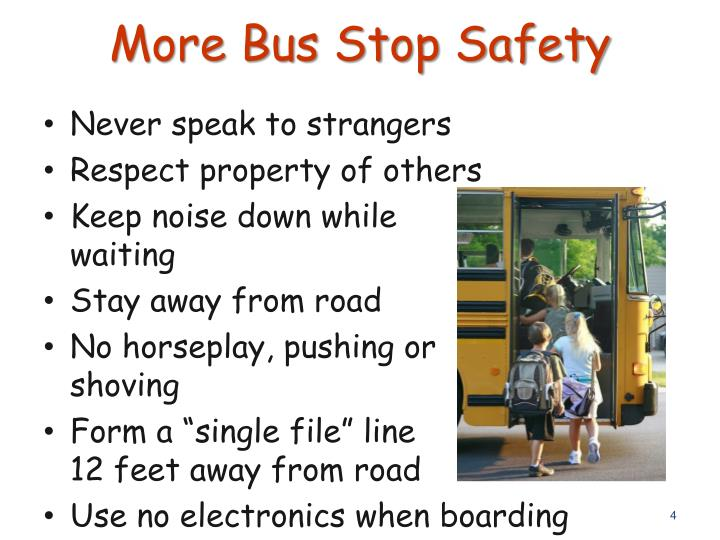 More Bus Stop Safety