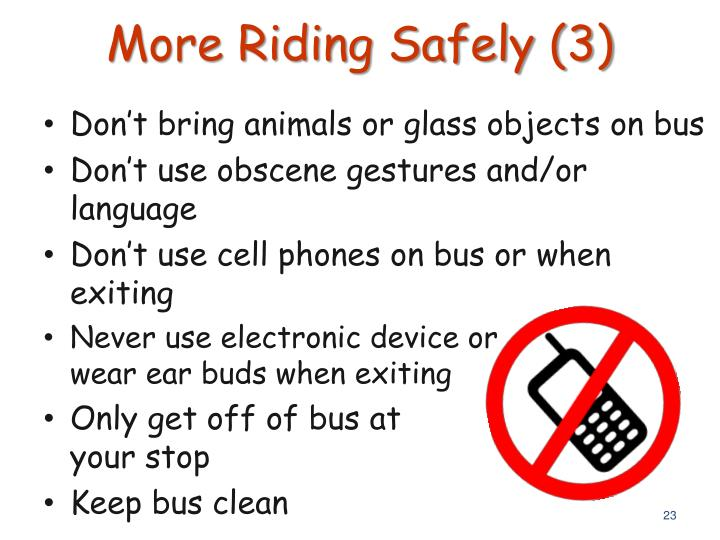 More Riding Safely (3)