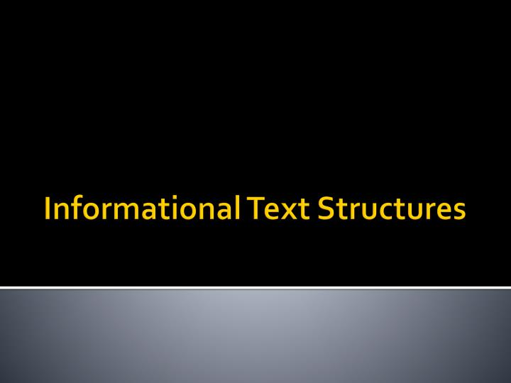 informational text structures n.