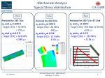 mechanical analysis typical stress distribution