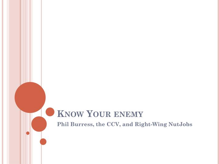 know your enemy n.