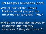 un analysis questions cont