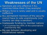 weaknesses of the un