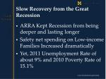 slow recovery from the great recession