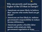 why are poverty and inequality higher in the us than in europe