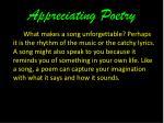 appreciating poetry