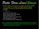 poetic form lines stanza