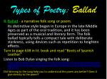 types of poetry ballad