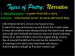 types of poetry narrative