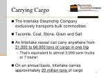 carrying cargo
