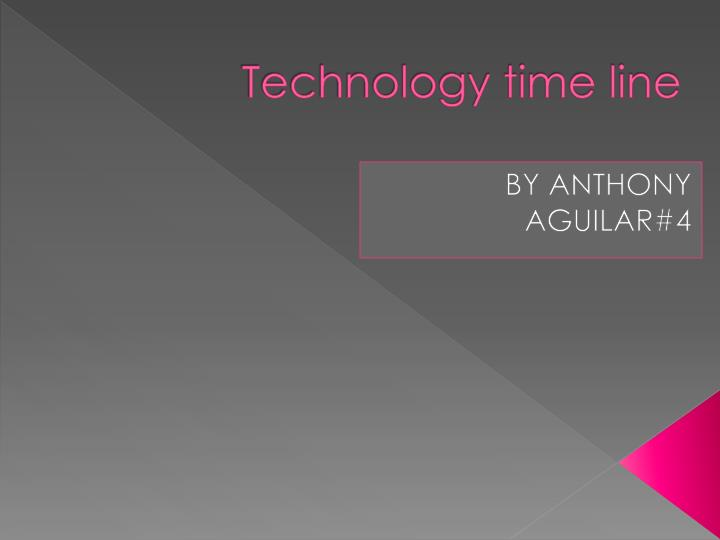 technology time line n.